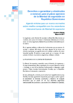 Derechos a garantizar y obstáculos a remover para el pleno ejercicio de la libertad de expresión en República Dominicana