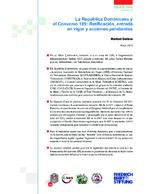 La República Dominicana y el Convenio 189